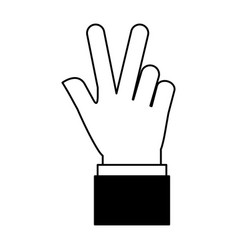 hands human touching icon vector image