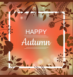 Happy autumn card design vector