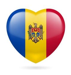 Heart icon of Moldova vector