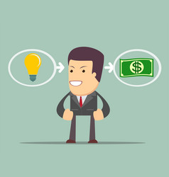 Ideas are equal to money vector