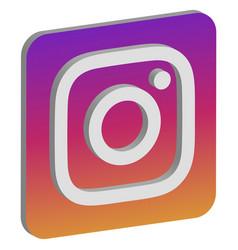 Instagram logo isometric icon vector