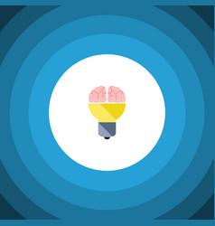 Isolated inspiration flat icon idea vector