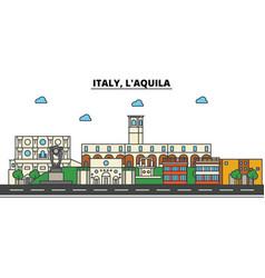 Italy l aquila city skyline architecture vector