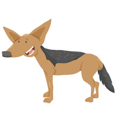 Jackal cartoon animal character vector
