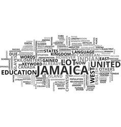 jamaica villas text background word cloud concept vector image