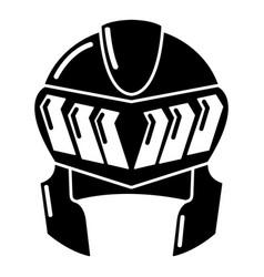 Knight helmet medieval icon simple black style vector