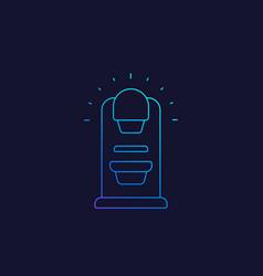 Mammography machine line icon vector
