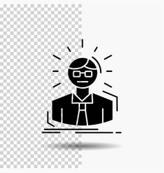 manager employee doctor person business man glyph vector image