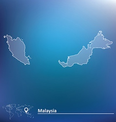 Map of Malaysia vector image
