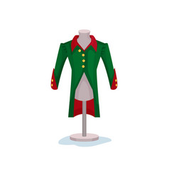 medieval men s coat on mannequin green jacket vector image