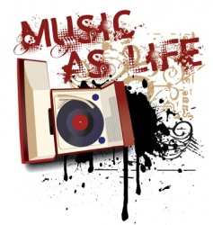 music as life vector image