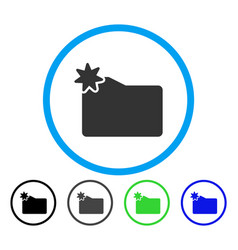new folder rounded icon vector image