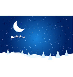 new year flat with moon santa vector image
