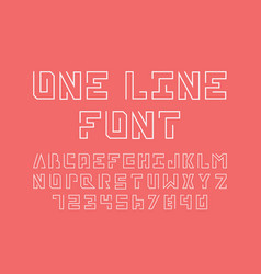 one line font alphabet vector image