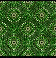 Oriental geometrical abstract green mandala vector
