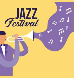 people festival jazz vector image