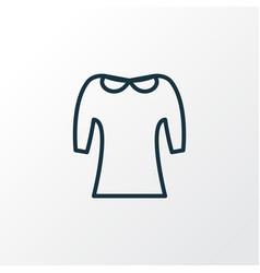 peter pan collar icon line symbol premium quality vector image
