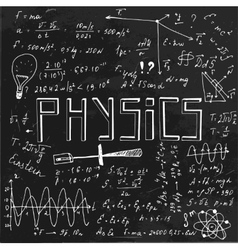 Physics blackboard image vector