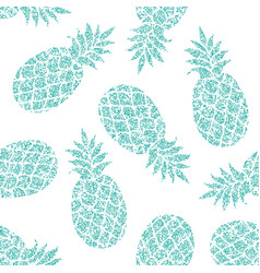 Pineapple seamless pattern for textile vector