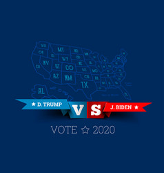 Presidential elections in united states vector