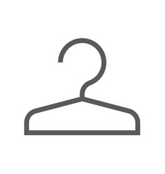 public navigation line icon cloakroom vector image