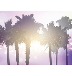 Retro styled palm tree background vector