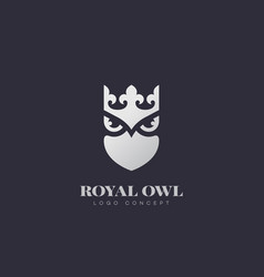 Royal owl logo vector