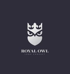 royal owl logo vector image