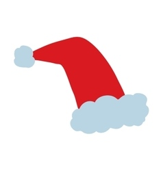Santa christmas hat vector image