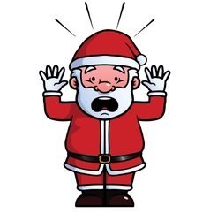 Santa Claus being shocked vector image