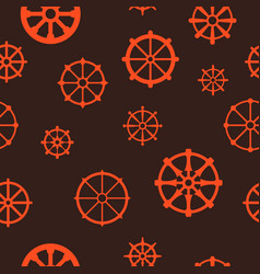 Seamless pattern with dharmachakra vector