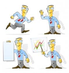 Set cartoon businessman vector