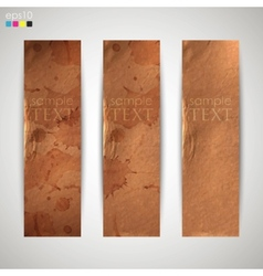 set of banners with grunge cardboard texture vector image