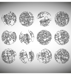 Set of electronic circuit eps10 vector