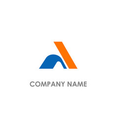 shape colored a initial company logo vector image