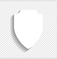 shield sign white icon with vector image