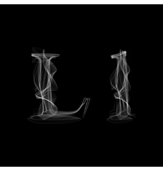 Smoke font Letter L vector