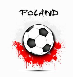 Soccer ball and poland flag vector