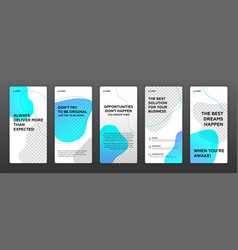 social media post templates pack vector image