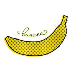 Stylized banana vector