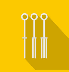 Tattoo needles icon flat style vector