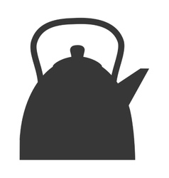 tea kettle beverage isolated icon vector image