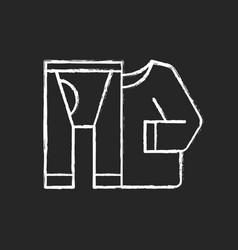 thermal underwear chalk white icon on black vector image