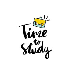Time to study handwritten text background vector