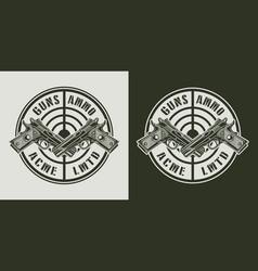 Vintage military label vector