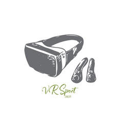 vr equipment reality technology glasses vector image