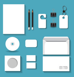 White mock ups for business vector