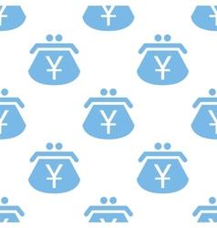 Yen purse seamless pattern vector image