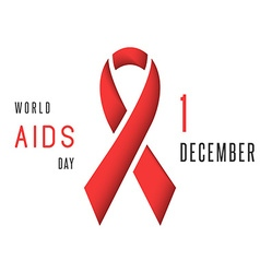 Aids world day poster mockup red ribbon stop virus vector