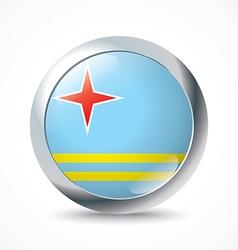 Aruba flag button vector image
